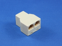 RJ12 6P4C 3 Way Coupler