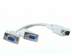 DB9M TO 2 X DB9F Splitter Cable