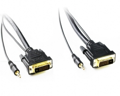 10M DVI-D to DVI-D Cable with 3.5mm Audio