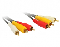 2M 3RCA to 3RCA Composite Cable OFC