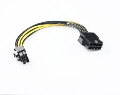 20CM PCIe 6Pin M to 8Pin F Cable